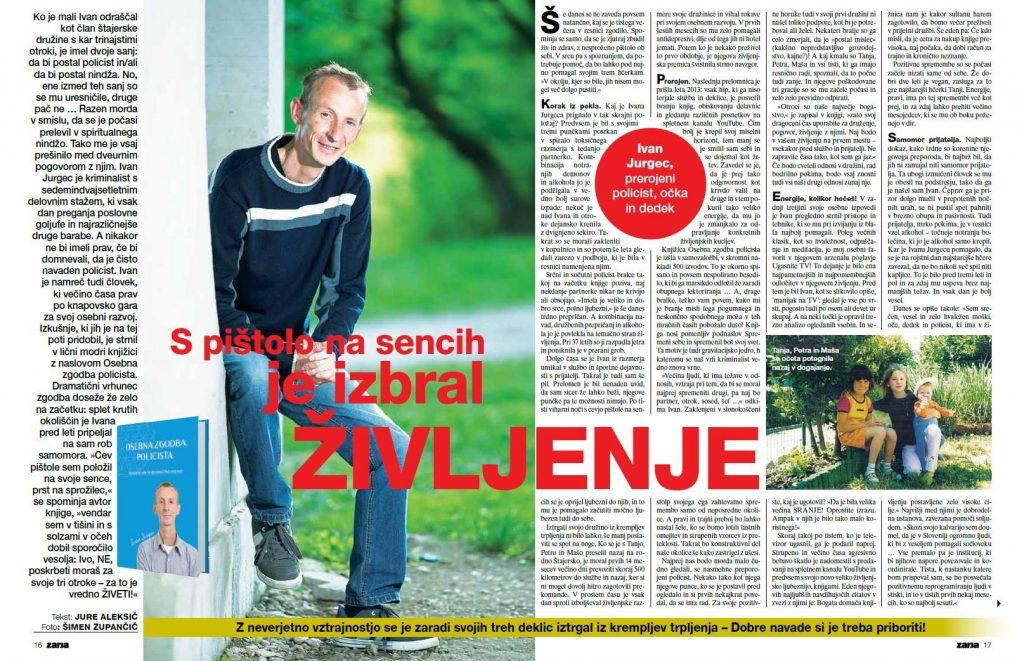 Članek v reviji Zarja - Ivan Jurgec