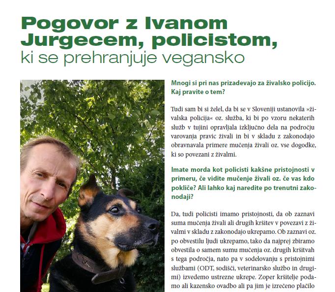 intervju za revijo Osvoboditev živali